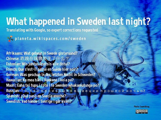 What happened in Sweden last night?