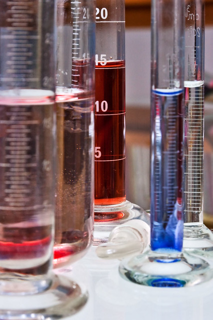 test tubes color analysis