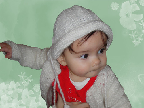Warm Baby HAT for your little Snowflake from 3 to 6 months