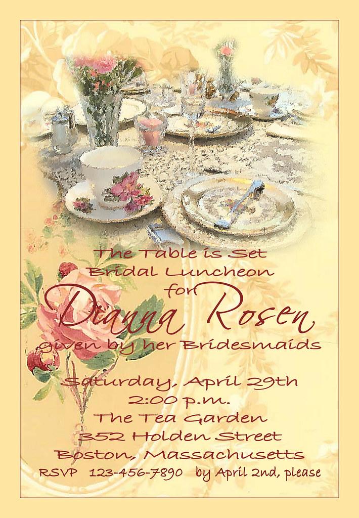 Bridal Brunch Shower Invitations as amazing invitation sample