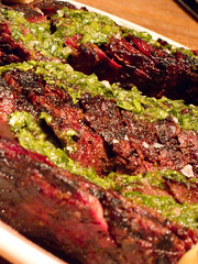 Carne Asada with Chimichurri sauce at La Condesa