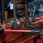 Red Lathe Bed