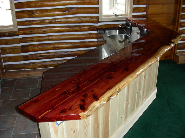 Rustic Wood Bar Tops http://www.flickr.com/photos/richols/4501824022/