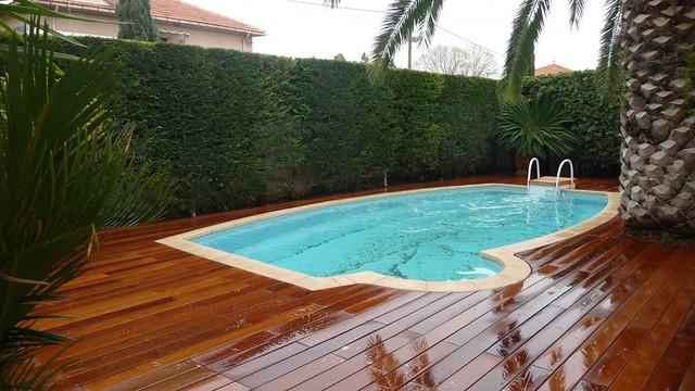 R novation piscine terrasse bois exotique ip avec for Terrasse piscine bois