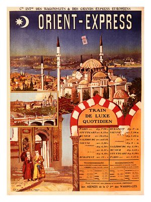 orient express istanbul travel poster flickr photo. Black Bedroom Furniture Sets. Home Design Ideas