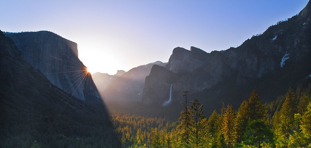 Morning Rays of Light - Yosemite Valley