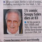Soupy Sales, USA Today cover, 23 Oct. 2009