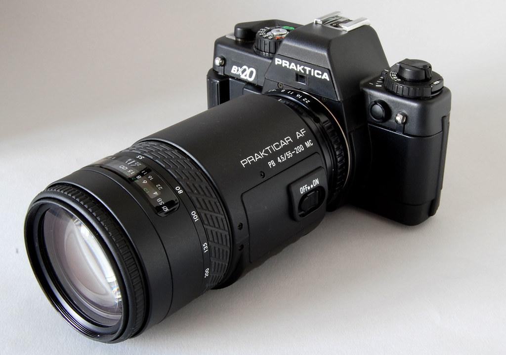 Praktica bx with prakticar mm autofocus lens a photo on