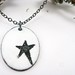 stenciled star pendant