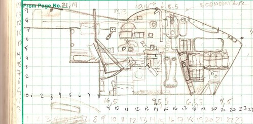 My Mosquito crew compartments port side drawing