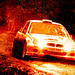 MG/ Rover rallycar, red flame edit. by LHG Creative Photography