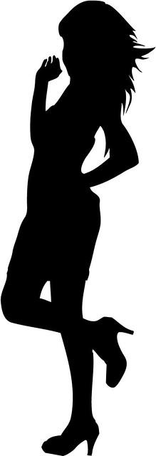 Sassy girl silhouette ...