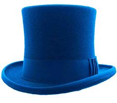clothing(0.0), aqua(0.0), turquoise(0.0), fedora(0.0), cap(0.0), costume hat(1.0), cobalt blue(1.0), teal(1.0), azure(1.0), electric blue(1.0), hat(1.0), blue(1.0), headgear(1.0),