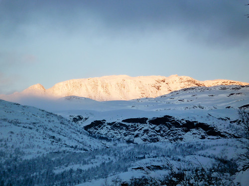 winter sunset sun mountain snow norway view h2o vang oppland
