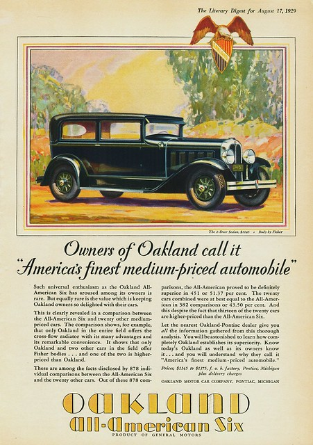 1929 Oakland All-American Six 2-Door Sedan