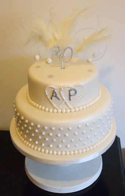 Cake Ideas For Pearl Wedding Anniversary : Pearl Wedding Anniversary cake Flickr - Photo Sharing!