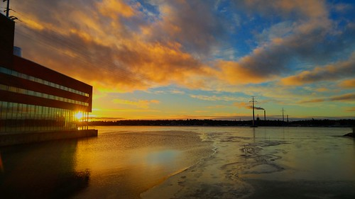 sea sunset vaasa finland balticsea sky clouds sun bothnia