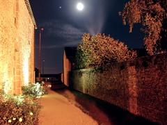 Trangé city hall by moonlight - Photo of Brains-sur-Gée