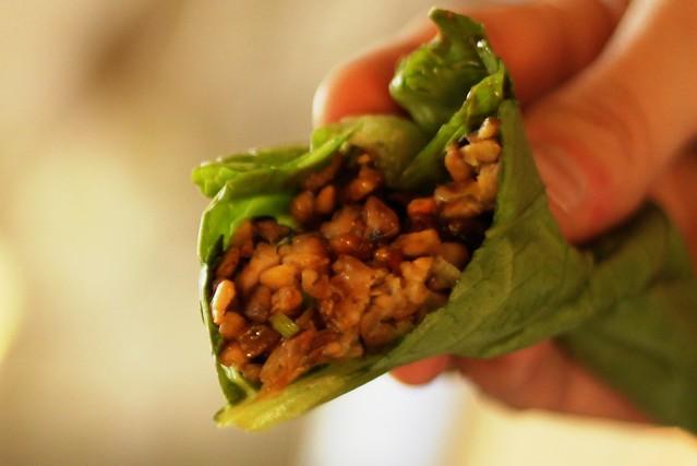 vegetarian tempeh lettuce wraps   Flickr - Photo Sharing!