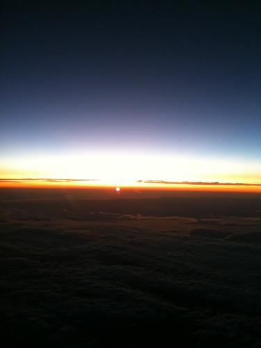 sun plane sunrise