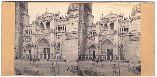 Fotografía estereoscópica de la Catedral de Toledo hacia 1860 por Lamy ?
