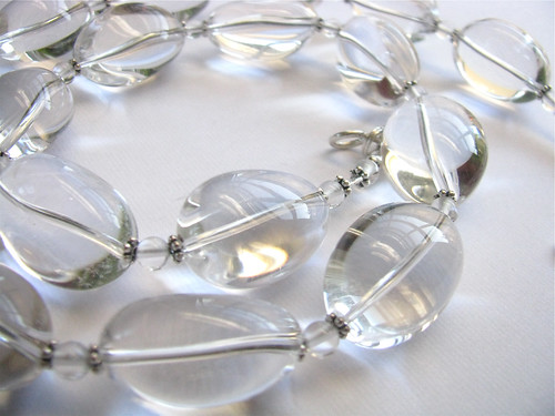 Icy rock crystal necklace