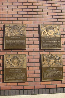 San Francisco: AT&T Park - San Francisco Giants Wall of Fame - Bobby Bollin, Mike McCormick, Jim Davenport and Dick Dietz