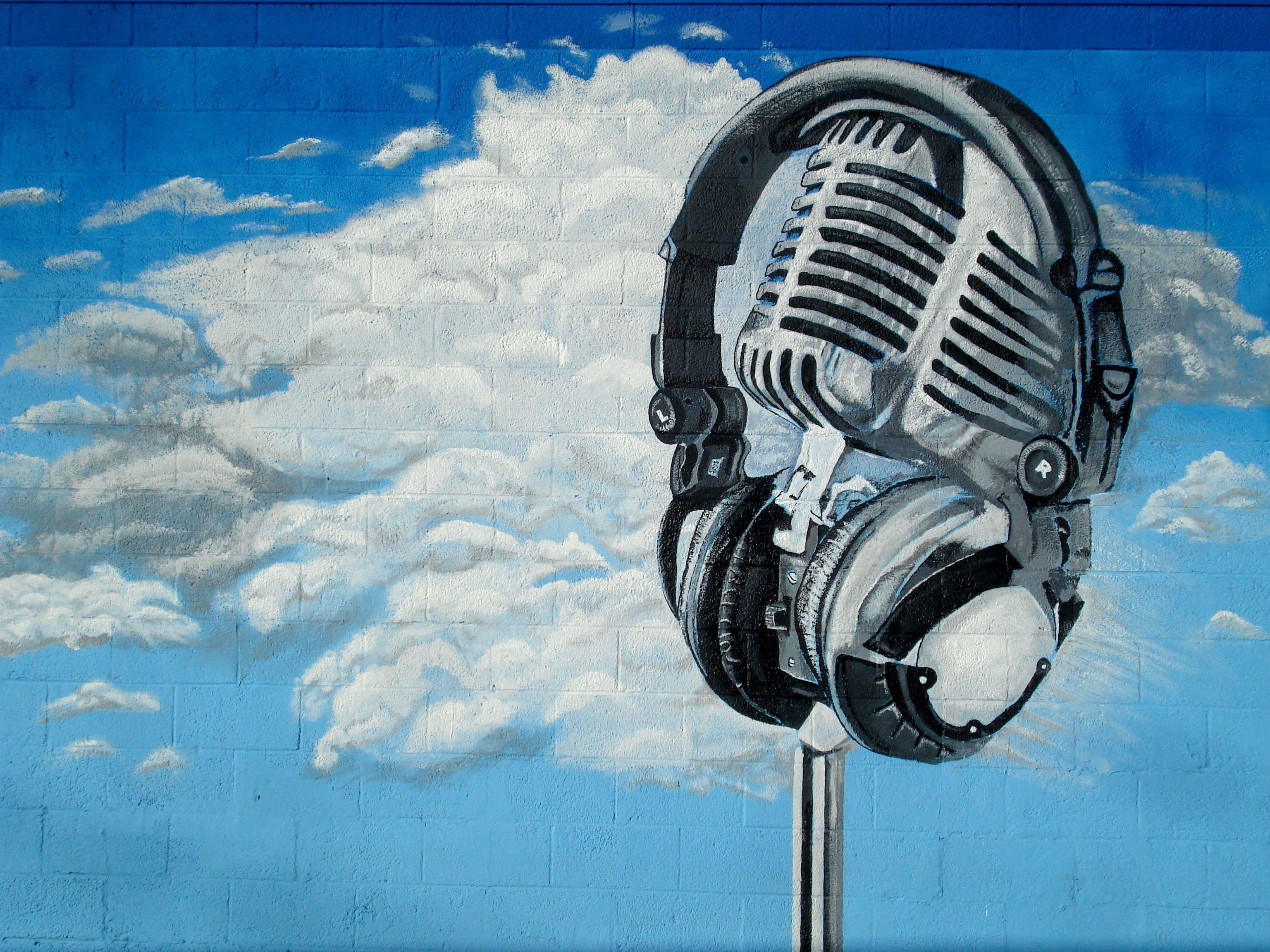 Arizona yavapai county yarnell - Arizona Sky Music Brick Classic Wall Clouds Vintage Painting Graffiti Mural January Headphones Microphone 365 Mic
