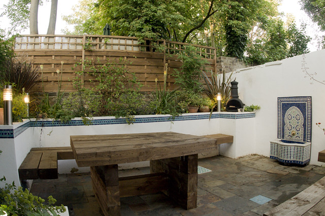 The Moroccan Courtyard Garden by Earth Designs www