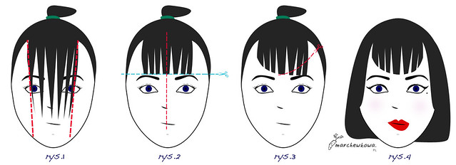 ♥ How to cut Bettie Page bangs