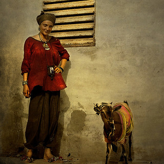 the ukrainian lady and the senegalese goat...