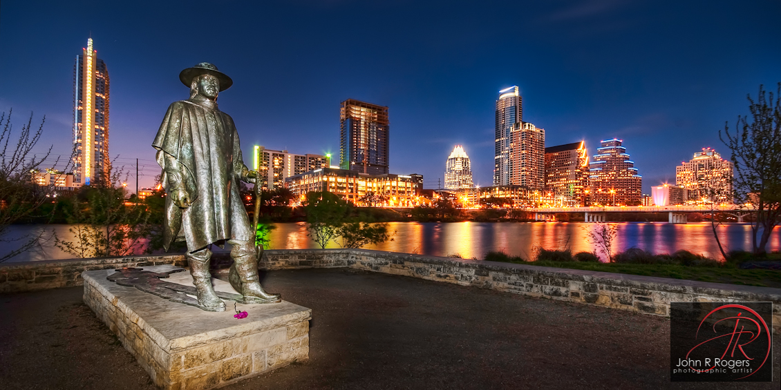 Stevie Ray Vaughan Austin Skyline Sunset