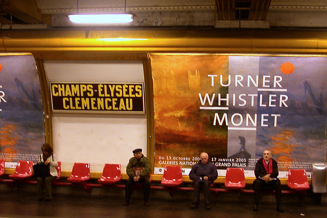 Paris: subway billboard