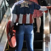Captain America Takes the Escalator