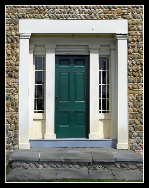 Front door Cobblestone farmhouse
