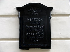 Photo of Heinrich Heine black plaque