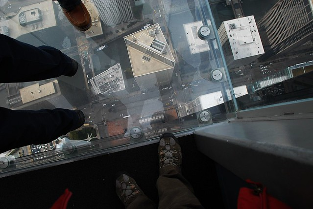 Sears Tower balcony glass color