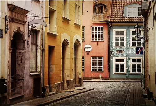 Old street in Riga, Latvia