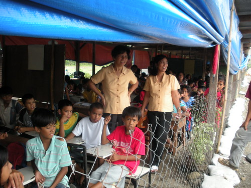 Temporary School for flood victims (Zambales, Philippines)