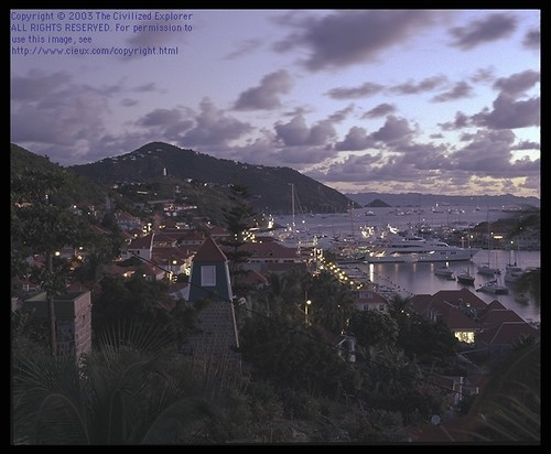 View of Gustavia, Sunset