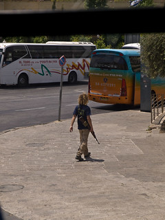 PalFest 2008: Settler in Jerusalem with an automatic rifle