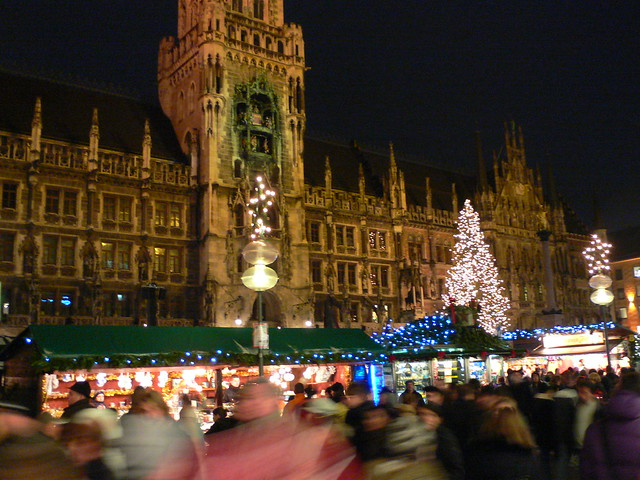 Christmas markets in Marienplatz, Munich