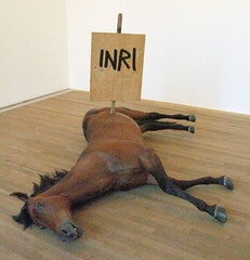 Dead Horse, Pop Life Exhibition, Tate Modern, London.