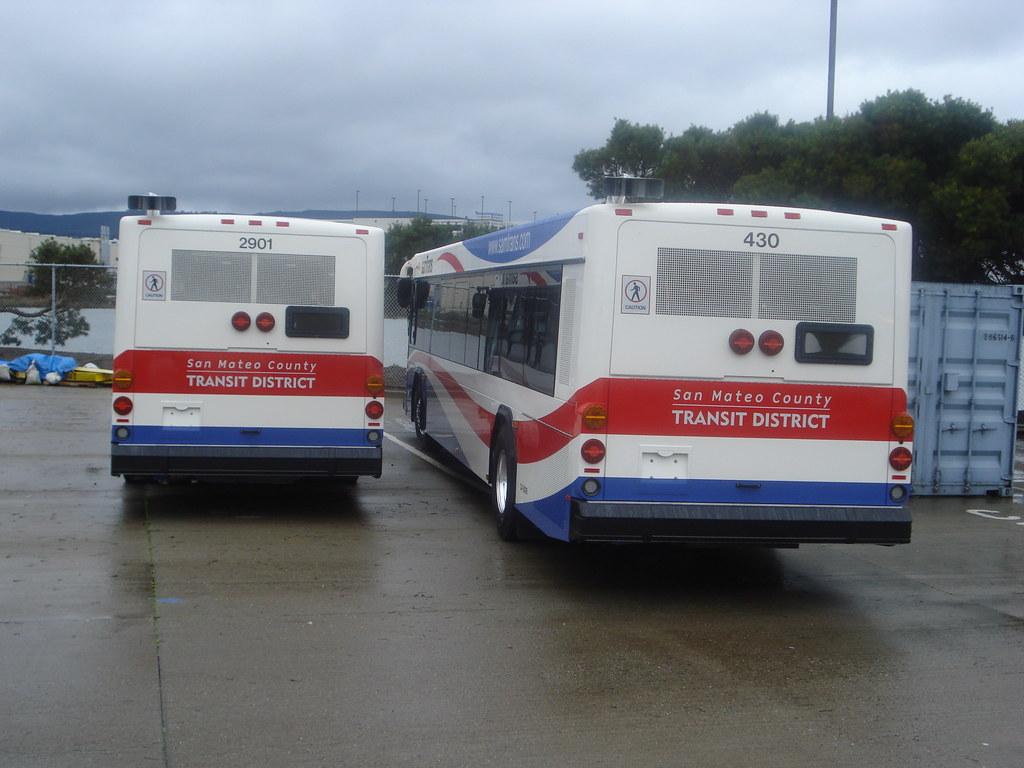 ff7b4d6398b samTrans 2901 & 430 2010 NorCal Bus Fans Excursion at samTrans North Base  Yard South San