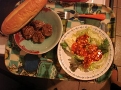 Swedish Meatballs & French Blue Salad