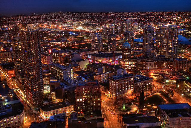 Vancouver by Night (HDR)