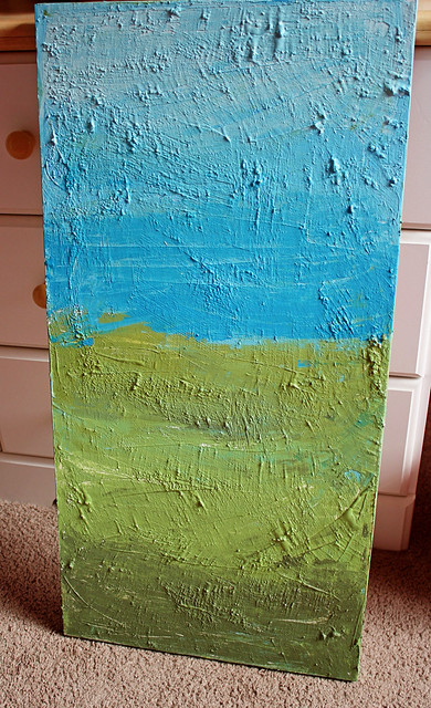 Textured wall art tutorial flickr photo sharing for Texture painting ideas canvas