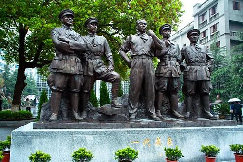 Estatua conmemorativa en recuerdo a los líderes del Alzamiento de Nanchang.