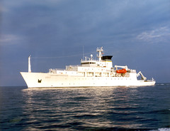 U.S. Navy file photo of the.T-AGS 60 Class Oceanographic Survey Ship, USNS Bowditch.