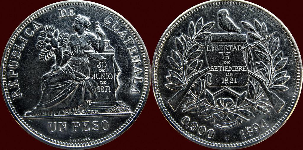 1 Peso - Republica de Guatemala 1894 13018406644_f00798d653_b